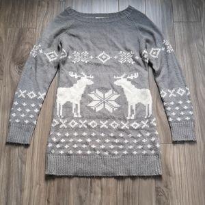 Sweaters - Blue Crush Nordic Winter Print Tunic Sweater
